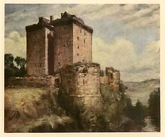 Borthwick Castle - 1950s print