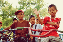 The Biker Boyz (khaniv13) Tags: boys bike bicycle kids 35mm pose children indonesia nikon bmx biker local f18 greet afs centraljava pemalang d40x khaniv13