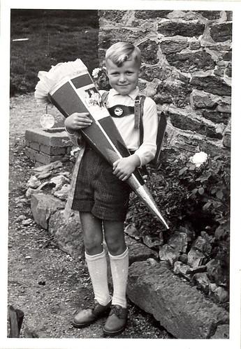German Boy an School Cone
