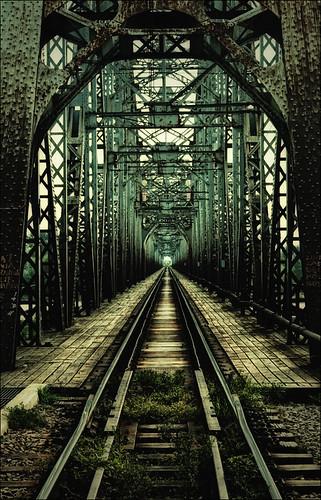 フリー画像| 人工風景| 建造物/建築物| 線路/鉄道| 鉄橋|       フリー素材|