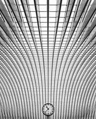 Is Time Linear? (Philipp Klinger Photography) Tags: travel flowers santiago bw white abstract black clock lines station thanks architecture train wow blackwhite spain nikon europe angle belgium belgique time wide over symmetry line architect spanish calatrava and faves much 24mm concept 500 bec philipp liege sigma1224mm santiagocalatrava linear lige belgien 24h wallonie benelux klinger lttich blach wallonia flickrshop guillemins wallonien d700 infinestyle platinumheartaward theperfectphotographer dcdead luick vanagram imsweatinginsidemyhouse334cinmyroomandjustafewmoreoutsidephew wowover500favesin24hthankssomuch istimelinear topabstract