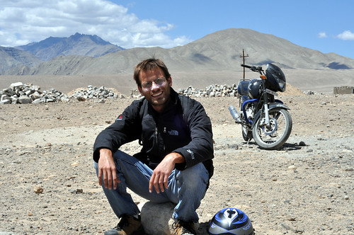 Erez on the road to Alchi Gompa