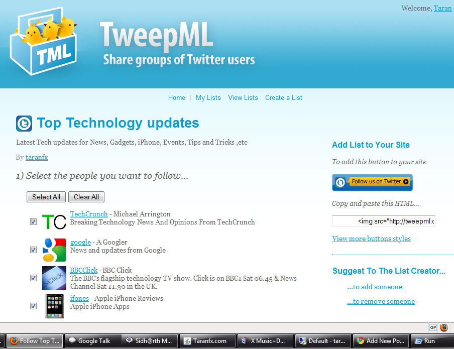 Top Technology Twitter Updates