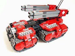 Garm Gauss Tank (Jerac) Tags: tank power control lego swiss space vehicle remote functions