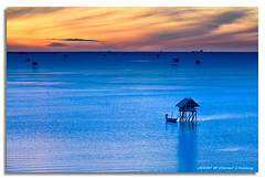 Fisherman's Blues (DanielKHC) Tags: blue sea digital thailand dawn boat interestingness high nikon bravo dynamic explore hut range dri increase hdr blending d300 sigma18200mm danielcheong infinestyle danielkhc bangtaboon superbravo
