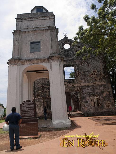 Malacca St Pauls Church Facade