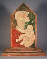 father singing to son (siptakg) Tags: wood man painting child song father vine son icon sing oil tender siptak