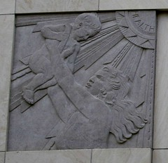 roy and lillie cullen building, baylor college of medicine health frieze