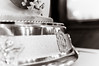 silver wedding cake photo