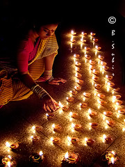 Happy Diwali (subirbasak (thanks for over .5 million views)) Tags: light india festival festivaloflight ritual diwali deepavali claylamp subirbasak