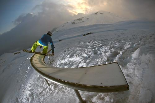 2009 Rider: Arnau Fernández Lugar: Snowpark Valle Nevado, Chile.