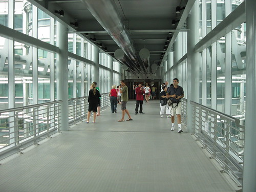 The sky bridge at Petronas Towers