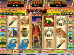 free Mayan Queen slot free spins