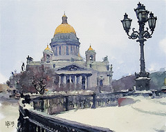 Saint Isaac's Cathedral, St. Petersburg (piker77) Tags: winter urban painterly art saint architecture digital photoshop computer watercolor painting stpetersburg interesting media cathedral natural russia aquarelle isaac digitale manipulation simulation peinture illusion virtual watercolour transparent acuarela tablet technique wacom stylized pintura imitation  aquarela aquarell emulation malerei pittura virtuale virtuel naturalmedia urbanpics    piker77wc nmpemulation arthystorybrush