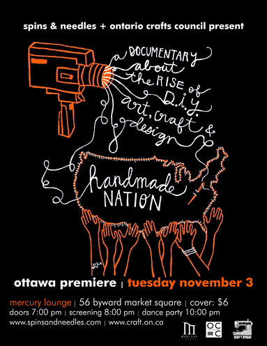 Ottawa Premiere of Handmade Nation - November 2009