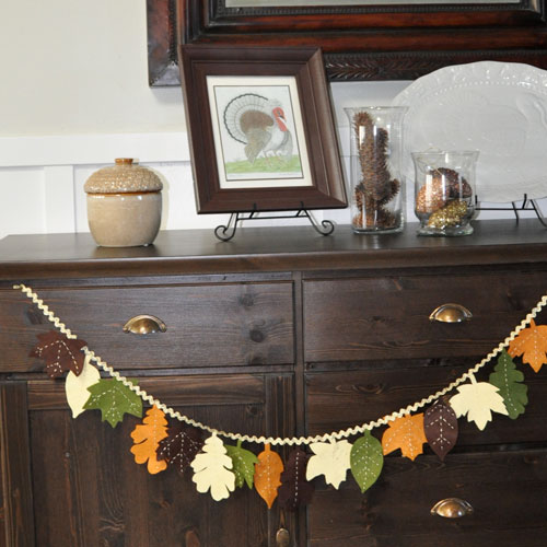 Handmade Autumn Garland