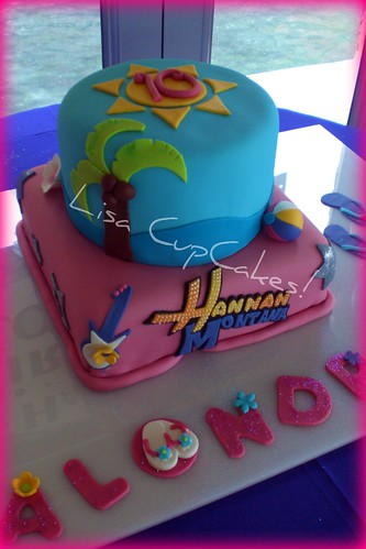 Hannah Montana Pool Party Cake
