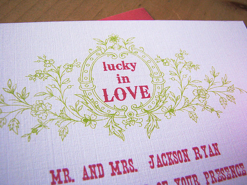 luckyinlove- vintage style wedding invitations
