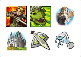 free Dragon's Loot slot game symbols