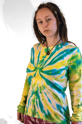 Leaf Light tie-dye