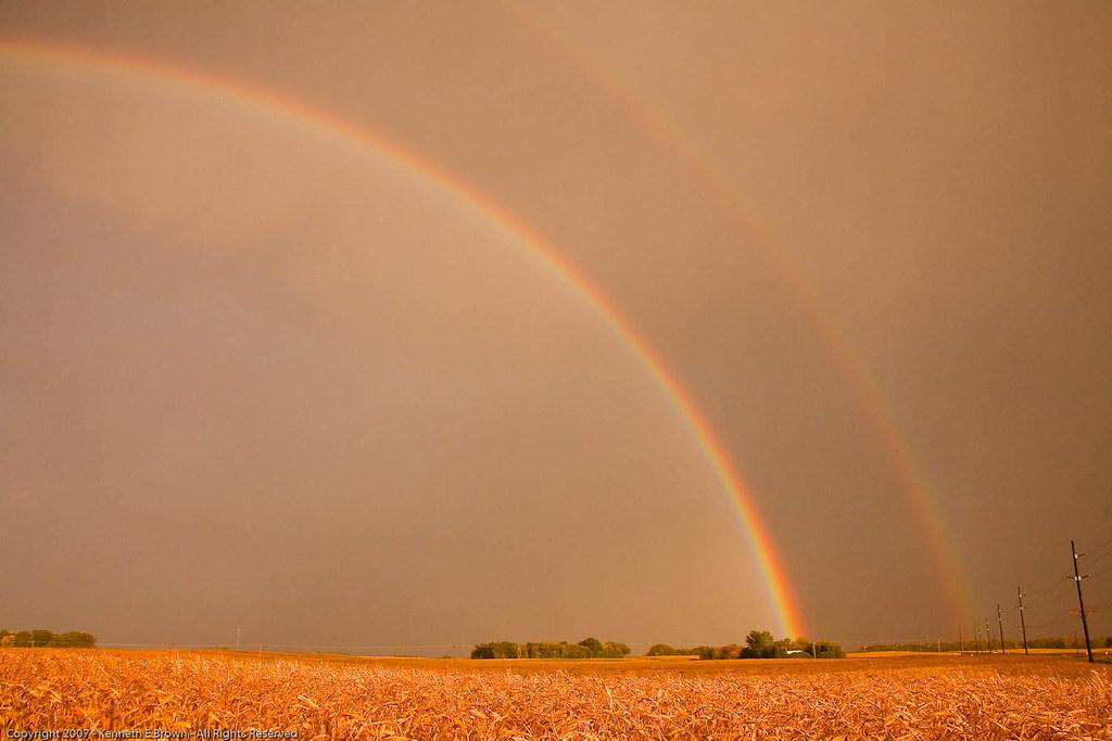 Rainbow over Corn Field [4086]