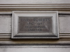 Photo of Frederick Sleigh Roberts grey plaque