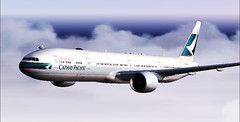 Cathay Pacific Airways B777-300ER (aViaTioNuT) Tags: cx screenshots boeing 777 flightsimulator fsx coth cathaypacificairways supershot abigfave diamondclassphotographer flickrdiamond theunforgettablepictures unforgettablepicture