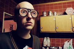 (Jan Kritzinger) Tags: kitchen glasses eyes serious sony retro tiles funk stare eyebrows srsbsns wx1 agentsmithsdad jankritzinger