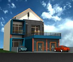 Desain-Rumah-Usaha-Minimalis by Indograha Arsitama Desain &  Build