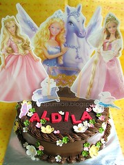 Barbie Theme Birthday Chocolate Cake