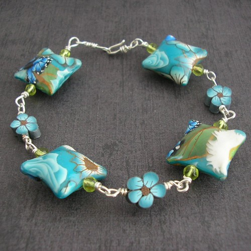 Sea Garden Pillow Bracelet