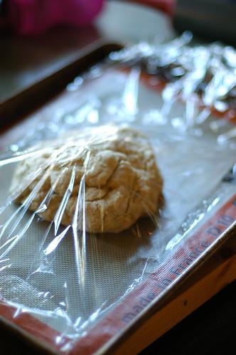 cinnamon roll dough II rising