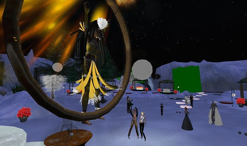 fire dancers in second life