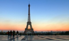 Eiffel Tower Sunset from the Trocadero Plaza. (Danny VB) Tags: plaza sunset sun paris france tower set architecture french soleil europa europe tour place flag coucher eiffel tourist card postal trocadero grue carte francais drapeau touriste europ placetrocadero mygearandmepremium trocaderoplaza mygearandmebronze mygearandmesilver mygearandmegold mygearandmeplatinum mygearandmediamond flickrstruereflection1 flickrstruereflection2