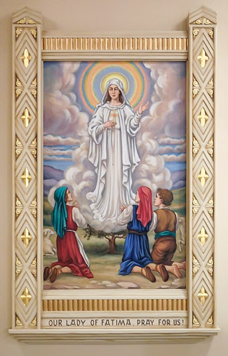 Saint Dominic Roman Catholic Church, in Breese, Illinois, USA - Our Lady of Fatima