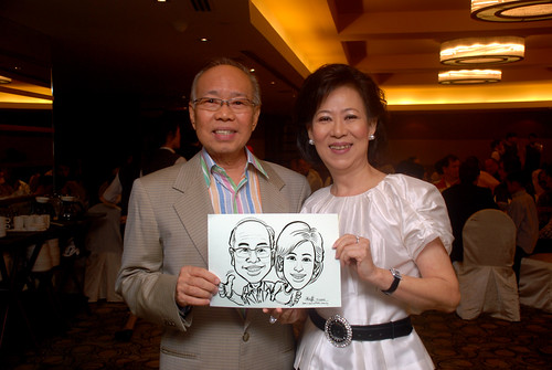 Caricature live sketching for Hock Cheong Printing Pte Ltd D&D 2009 - 11