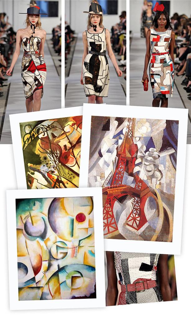 Oscar de la Renta & Cubism