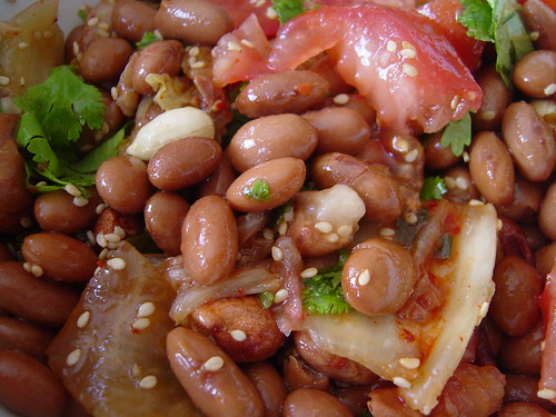 Kim-chee, bean and peanut salad