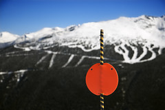 Signs & Symbols (iconicphotoservices) Tags: travel winter vacation mountain snow canada ski color tourism sign sport horizontal danger whistler outdoors symbol britishcolumbia trail skiresort photograph caution snowboard recreation copyspace birdseyeview overview skitrail offtrail skigear signsandsymbols
