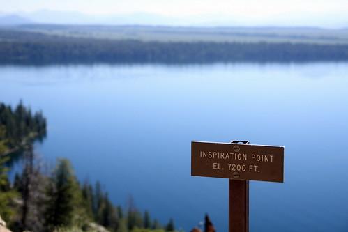 Inspiration Point near Jenny Lake