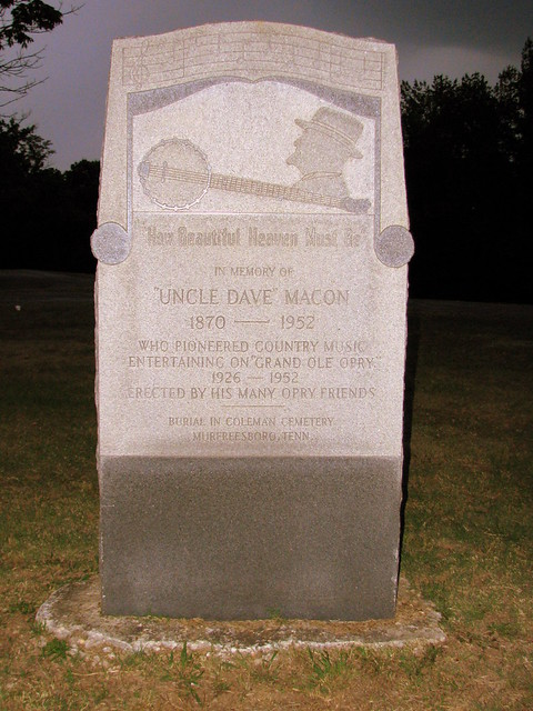 Uncle Dave Macon marker
