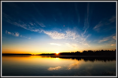 Sunrise on Big Crawlingstone Lake, Lac Du Flambeau Wisconsin - D3 w/ 14-24mm (ScottyG927) Tags: morning wisconsin sunrise nikon calmwater lacduflambeau nikond3 1424mm perfectsunrise crawlingstonlake breathatkingview