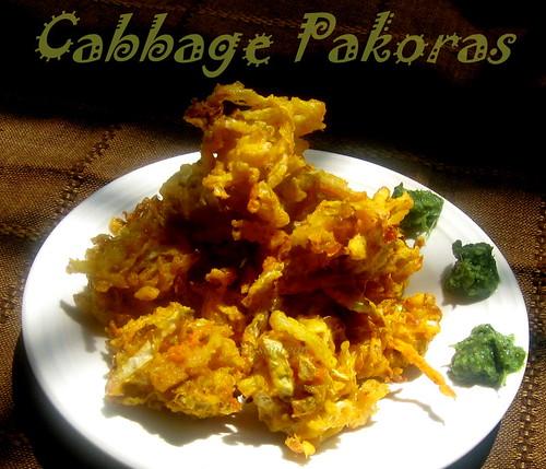 Cabbage Pakoras