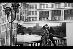 escape from everyday life (plaisirdevivre) Tags: windows blackandwhite house love advertising casa donna escape uomo romantic palazzo amore romantico biancoenero cartellonepubblicitario fuga pubblicit finestre evasione