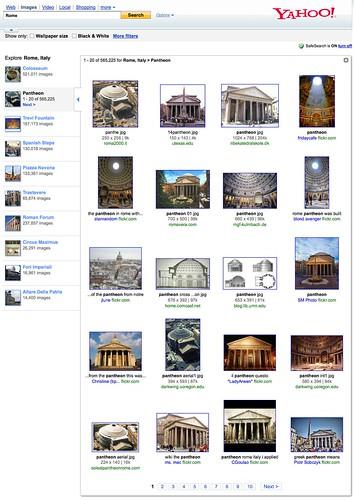 requete rome - pantheon dans yahoo images