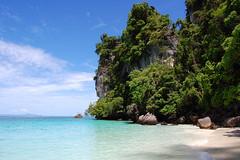 on Monkey Beach (marin.tomic) Tags: ocean travel blue sea beach water asian thailand monkey sand nikon asia southeastasia waves horizon jungle thai tropical kohphiphi tropics gettyimages andaman monkeybeach kohphiphidon