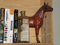 bottle of horse colic medicine