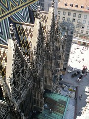 View down from the St. Stephen's Cathedral's south tower