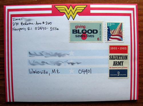Wonder Woman fold and mail