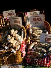 sausages (ewjz31) Tags: st andrews market sausages